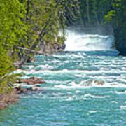 Mcdonald Creek Falls In Glacier Np-mt Art Print
