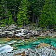 Mcdonald Creek In Glacier National Park Art Print