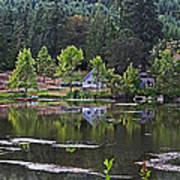 Mcintosh Lake In Washington Art Print