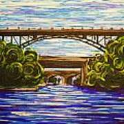 Mcquesten High Level Bridge Hamilton On Art Print