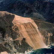 Aerial Of Mcway Landslide Big Sur California 1984 Art Print