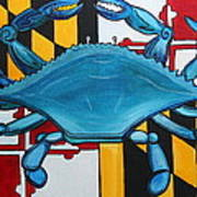 Md Blue Crab Art Print