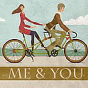 Me And You Bike Art Print