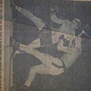 Me Fighting Bill Waits 1954 Art Print
