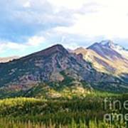 Meadow And Mountains Art Print