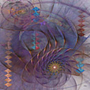 Meandering Acquiescence - Square Version Art Print
