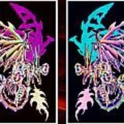 Mech Dragons Pastel Art Print