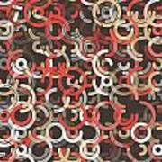Mechanic Geometric Circle Segment Pattern Art Print