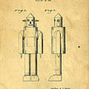 Mechanical Man Patent Art Print