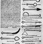 Medical Instruments, 1531 Art Print