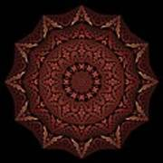 Medicine Wheel Dragonspur Fractal K12-4 Art Print