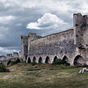 Medieval City Wall Defence Art Print