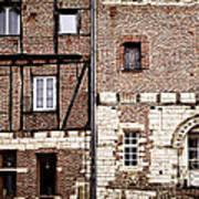 Medieval Houses In Albi France Art Print