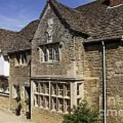 Medieval Houses In Lacock Village Art Print
