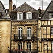 Medieval Houses In Vannes Art Print by Elena Elisseeva