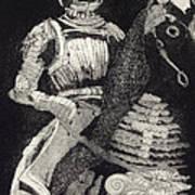 Medieval Knight On Horseback - Chevalier - Caballero - Cavaleiro - Fidalgo - Riddare -ridder -ritter Art Print