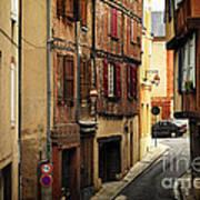 Medieval Street In Albi France Art Print by Elena Elisseeva