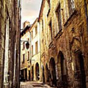 Medieval Street In Perigueux Art Print by Elena Elisseeva