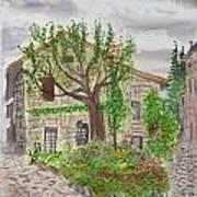 Medieval Village In France 2012 Art Print
