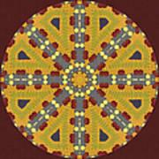 Meditating On Life - Mandala Art Print