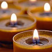 Meditation Candles Path Art Print