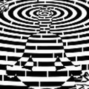 Meditation Maze  Art Print