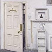 Meditation On A Door I Print by Charles E Hardaker