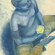 Meditation With Flower Art Print by Judith Grzimek