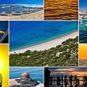 Mediterranean Coast Collage Art Print