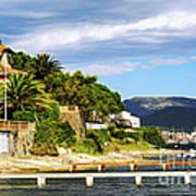 Mediterranean Coast Of French Riviera Art Print