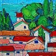 Mediterranean Roofs 1 2 3 Art Print