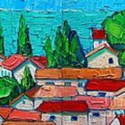 Mediterranean Roofs 1 2 Art Print