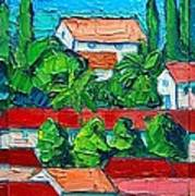 Mediterranean Roofs 2 3 4 Art Print