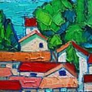 Mediterranean Roofs 2 Art Print