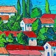 Mediterranean Roofs 3 4 Art Print