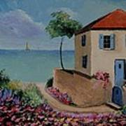 Mediterranean Villa Art Print by Stefon Marc Brown