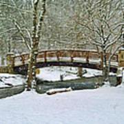 Meeks Park Bridge In Snow Art Print