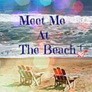 Meet Me At The Beach Art Print