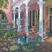Meeting Street Inn Charleston Art Print by Richard Harpum