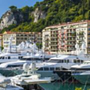 Mega Yachts In Port Of Nice France Art Print