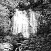 Meigs Falls Smoky Mountains Bw Art Print