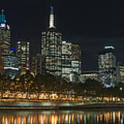 Melbourne Cbd And Yarra Art Print
