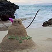 Mele Kalikimaka Merry Christmas From Paako Beach Maui Hawaii Art Print