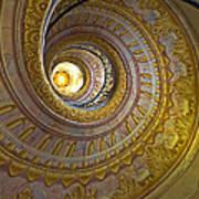 Melk Abbey Spiral Staircase Art Print