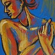 Mellow Yellow- Female Nude Portrait Art Print