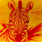 Mellow Yellow Zebra Art Print