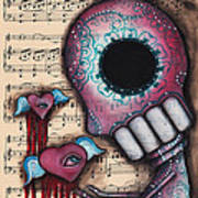 Melting Hearts  Art Print