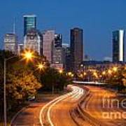 Memorial Drive And Houston Skyline Art Print