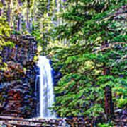 Memorial Falls In Montana Art Print