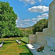 Memorial In Anzak Cemetery Along The Dardenelles In Gallipolii-turkey Art Print